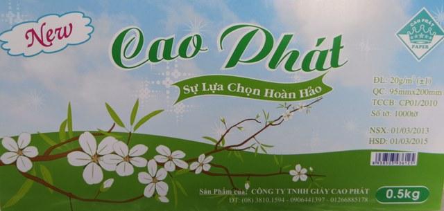 Khăn Rút Cao Phát Xanh